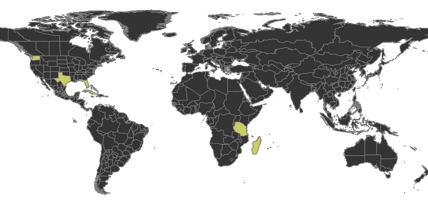 Nylanderia bourbonica Distribution.png